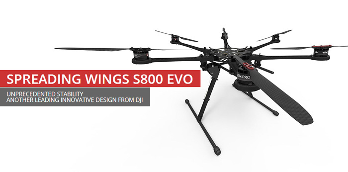 DJI8500 Spreading Wings S800 EVO