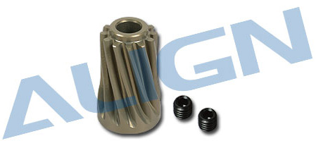H70062 Motor Slant Thread Pinion Gear 12T Use for T-REX 700E
