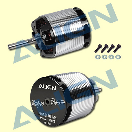 HML70M02- 700MX Brushless Motor (510KV) RCM-BL700MX Use for T-RE