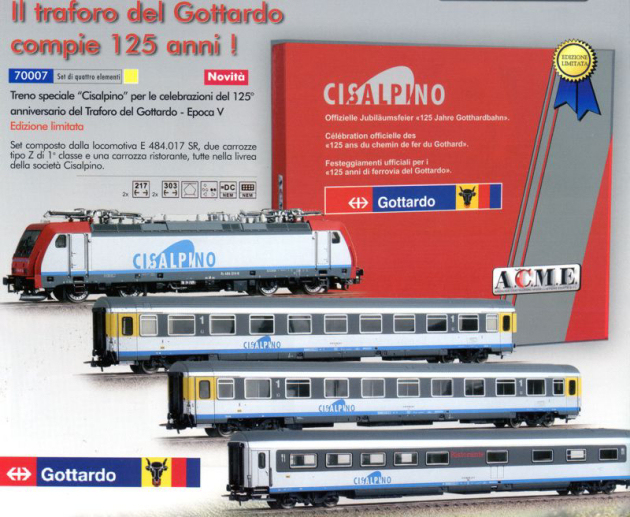 ACME 70007 Set 125? Gottardo conprende E 484 013 e tre carrozz