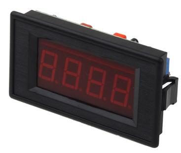 Amperometro digitale da pannello con display led 4 digit con ran