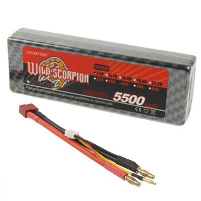 Lipo da 7.4V  5500m/Ah 35C , box in plastica compreso un connett