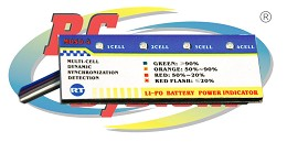 Prova batterie per lipo RCE0009 - Li-Po Battery Checker 4 celle